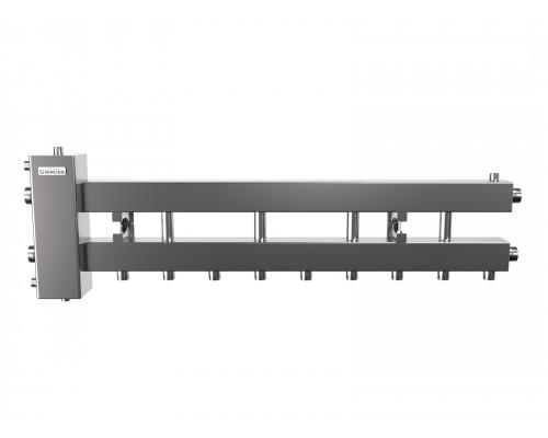 Гидрострелка с коллектором на 5 контуров до 150 кВт (балансировочный коллектор из нержавеющей стали BMSS-150-5D)