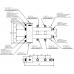 BMSS-100-3DU (нерж., до 100 кВт, подкл. котла G 1¼″, 1+1+1 контура G 1″, доп. подключения на коллекторе)