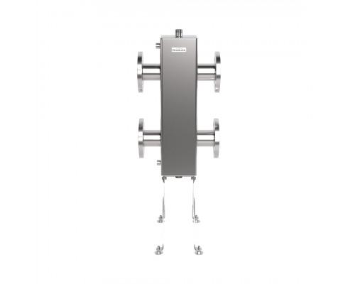 Фланцевая гидрострелка из нержавеющей стали GRSS-400-65 (нерж., до 400 кВт, фланец 1-65-10 ГОСТ 12820-81, сечение корпуса 150х150 мм)